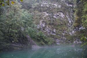 A stunning deep karst lake.