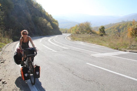 Speeding through Macedonia...