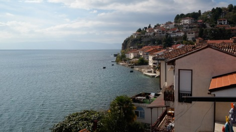 Our view of Lake Ohrid wasn't so horrid.