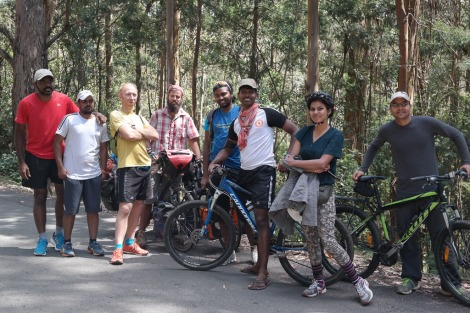 Rarer than tigers.... Indian cyclists! These fresh faced guys were on a weekend break from Chennai.