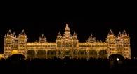 Mysore palace at night.