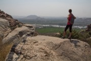 Looking for cave paintings near Hampi (we didn't find them :( )