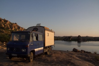 This couple had driven from Germany... it was an amazing van!