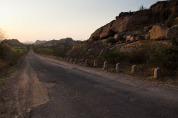The road towards Hampi