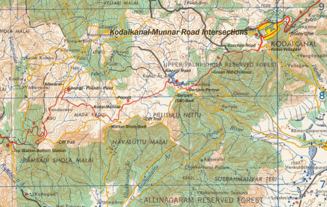 The 1955 US Army map suggested there was a way, most of these trails no longer exist.