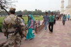Being India's most well known tourist attraction, security is quite tight.