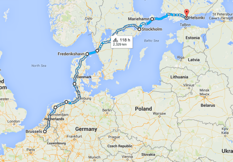 Our approximate route over the last six weeks.